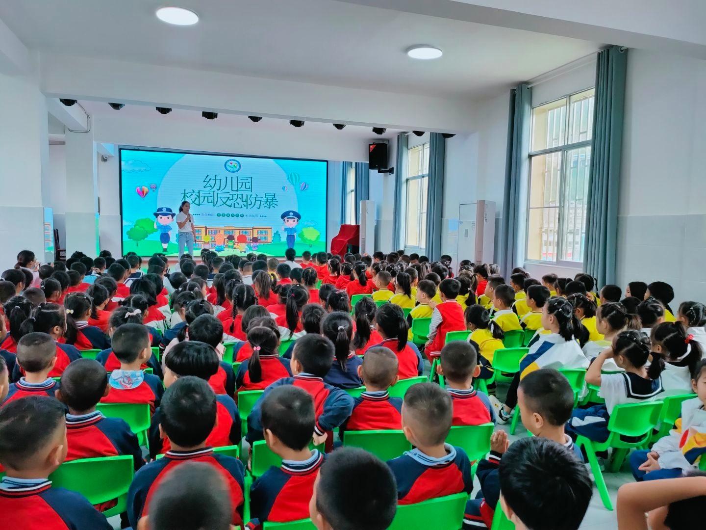 县第一幼儿园开展反恐防暴应急演练活动
